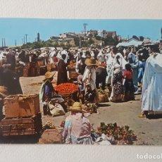 Postales: ESCENA MERCADO ZOCO TANGER MARRUECOS POSTAL. Lote 183465632