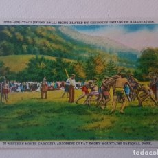 Postales: DANZA ANI TSAGI CHEROKEES CAROLINA DEL NORTE USA POSTAL. Lote 183466231