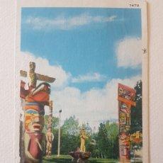 Postales: TOTEMS VICTORIA BRITISH COLUMBIA CANADA POSTAL. Lote 183467825