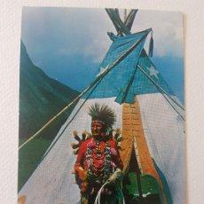 Postales: INDIO ROCKIE DANZA DEL POLLO CANADA POSTAL. Lote 183468142
