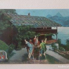 Postales: JURAMENTO DE RÜTLI ESCENA ILUSTRADA SUIZA POSTAL. Lote 183471182