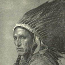 Postales: THE COVERED WAGON FILM PORTRAIT STUDY BY PHILIP DE LASZLO - CHIEF MEDICINE EAGLE ETAT. Lote 183542061