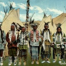 Postales: A GROUP OF NORTHWEST INDIANS. Lote 235878335