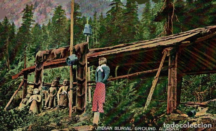 INDIAN BURIAL GROUND ALASKA. - INDIOS INDIANS (Postales - Postales Temáticas - Étnicas)