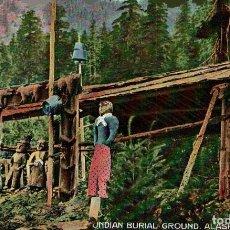 Postales: INDIAN BURIAL GROUND ALASKA. - INDIOS INDIANS. Lote 183544585