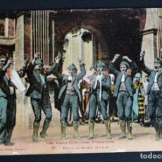 Postales: COSTUMBRES TRADICIONALES DE LOS PIRINEOS, DANCE DE MASSAT , POSTAL CIRCULADA DE 1932. Lote 184797712