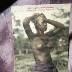 Postales: CPA 1326 ÁFRICA OCCIDENTAL FEMME MALINKE. Lote 186107505