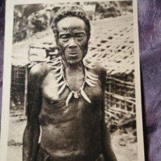 Postales: TIPOS AFRICANOS CHEF WAREGA. Lote 186107821