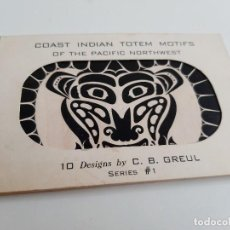 Postales: SET DE 10 POSTALES PACIFIC NORTHWEST COAST INDIAN MOTIF. Lote 236643925