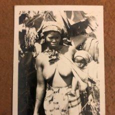 Postales: MULHER INDÍGENA. POSTAL CIRCULADA EN 1958. PHOTO BY LU SHIH TUNG.. Lote 189907528