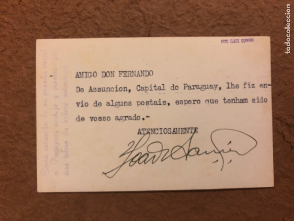 Postales: TRIBU INDIOS AUTÉNTICOS (PARAGUAY). ANTIGUA POSTAL CIRCULADA. FOTO: CLAUS HENNING. - Foto 2 - 189907917
