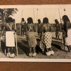 Postales: TRIBU INDIOS AUTÉNTICOS (PARAGUAY). ANTIGUA POSTAL CIRCULADA. FOTO: CLAUS HENNING.. Lote 189907917