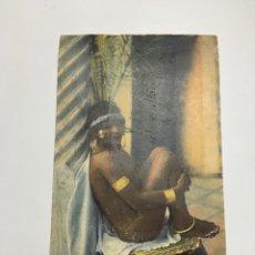 Cartoline: POSTAL. ANTIGUA POSTAL. UNE ESCLAVE. MAROC. FECHA, 18-2-1914.. Lote 190037353