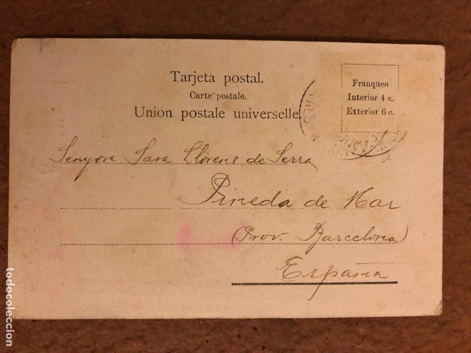 """Postales: INDIO CHAMACOCO, """"ZIGUIZI"""", PUERTO 14 de MAYO. POSTAL CIRCULADA EN 1910. - Foto 2 - 190395873"""