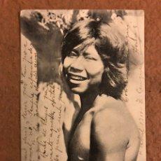 """Postales: INDIO CHAMACOCO, """"ZIGUIZI"""", PUERTO 14 DE MAYO. POSTAL CIRCULADA EN 1910.. Lote 190395873"""