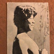 """Postales: INDIO CHAMACOCO, """"NEPÓTIO"""", PUERTO 14 DE MAYO. POSTAL CIRCULADA EN 1910.. Lote 190395931"""