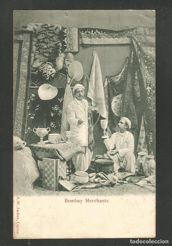 Postales: BOMBAY MERCHANTS-MERCADO-CEYLAN-REVERSO SIN DIVIDIR-POSTAL ANTIGUA-(66.290) - Foto 2 - 190988045