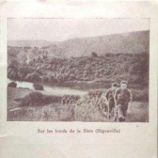 Postales: SUR LES BORDS DE LA SÛRE (BIGONVILLE). BOY SCOUTS. NUEVA. BLANCO/NEGRO. Lote 194985781