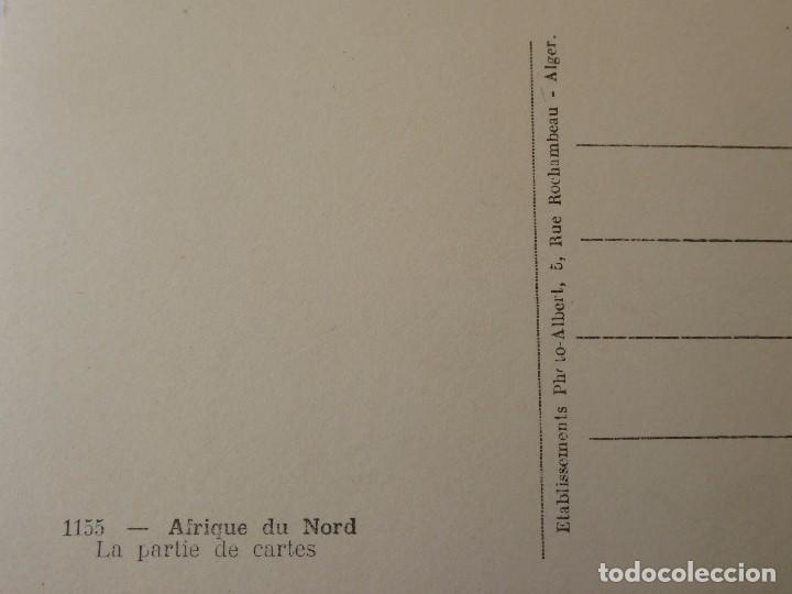 Postales: P-10067. NIÑOS ARGELINOS JUGANDO UNA PARTIDA DE CARTAS. AÑOS 50. FOTOG. ALBERT. ALGER. - Foto 3 - 195210373