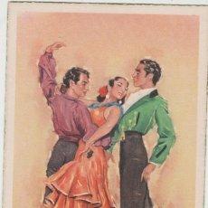 Postales: LOTE C-POSTAL FOLKLORE ESPAÑOL AÑOS 40-50. Lote 196888595