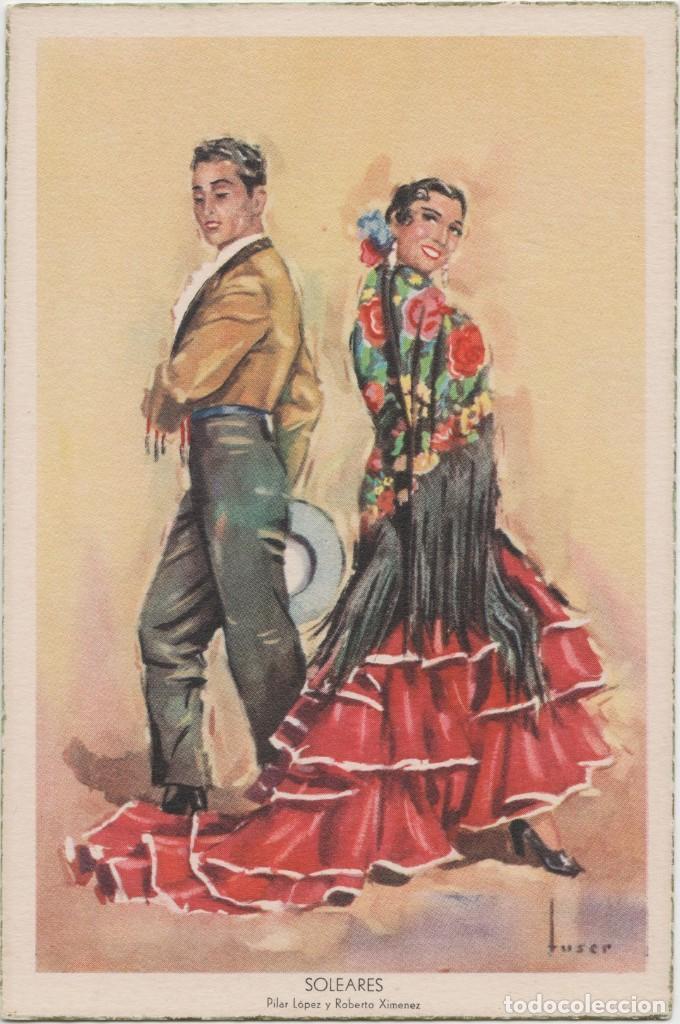 LOTE C-POSTAL FOLKLORE ESPAÑOL AÑOS 40-50 (Postales - Postales Temáticas - Étnicas)