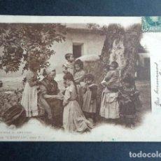 Postales: POSTAL LA BOYERA. COLECCIÓN CÁNOVAS. ESCUELA AL AIRE LIBRE. PRIMERA EDICIÓN. CIRCULADA. AÑO 1902. . Lote 197444773