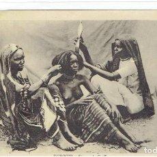 Postais: DJIBOUTI, SÉANCE DE COIFFURE, CIRCULADA CON SU SELLO. Lote 197947947