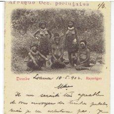 Postales: PORTUGAL, PAFRIQUE OCC.PORTUGAISE. DOMBE, RAPARIGAS, EDUARDO OSORIO-LOANDA, SIN DIVIDIR, CIRCULADA. Lote 198127762