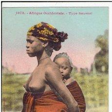 Postais: AFRICA OCCIDENTAL, DAKAR, MUJER SAUSSAI, SIN CIRCULAR. Lote 199067123