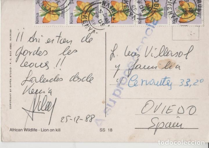 Postales: LOTE X-POSTAL AFRICA LEON SELLOS - Foto 2 - 199104747