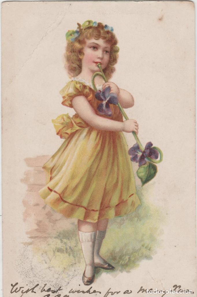 LOTE X-POSTAL ROMANTICA 1903 MATA SELLOS (Postales - Postales Temáticas - Étnicas)