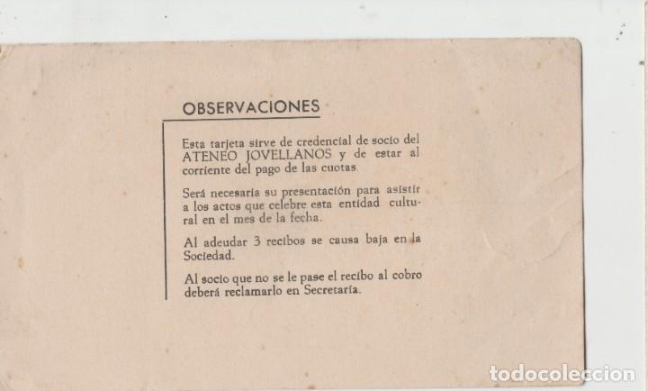 Postales: LOTE S-TARJETA SOCIO ATENEO GIJON ASTURIAS 1963 - Foto 2 - 199188720