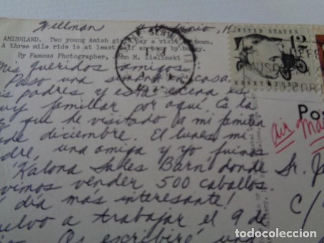 Postales: AMISHLAND. POSTAL CIRCULADA ESTADOS UNIDOS A ESPAÑA - Foto 2 - 199687722