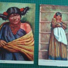 Postales: 2 POSTALES - INDIEN WOMEN - PRINTEND IN ENGLAND. Lote 204775635