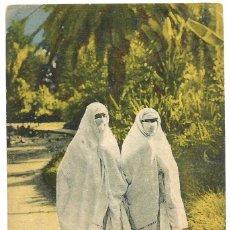 Postales: MAURESQUES EN PROMENADE - ARGELIA - SCENES ET TYPES - 1931. Lote 205584342