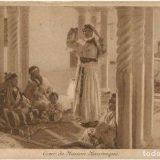 Postales: COUR DE MAISON MAURESQUE - ARGELIA - SCENES ET TYPES -1902. Lote 205589210