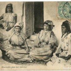 Postales: MAURESQUES EN LEUR INTÉRIEUR - ARGELIA - SCENES ET TYPES -1907. Lote 205589361