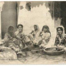 Postales: INTÉRIEUR DE MAISON MAURESQUE - ARGELIA - SCENES ET TYPES -1911. Lote 205591196