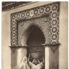 Postales: PORTE DE UNE MAISÓN MAURESQUE - ARGELIA - SCENES ET TYPES -1909. Lote 205591531