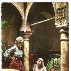 Postales: L´HEURE DU THÉ - ARGELIA - SCENES ET TYPES - 1953 - TROQUELADA. Lote 205595736