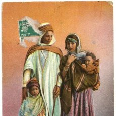 Postales: FAMILLE MAURESQUE - ARGELIA - SCENES ET TYPES - 1910. Lote 205595903