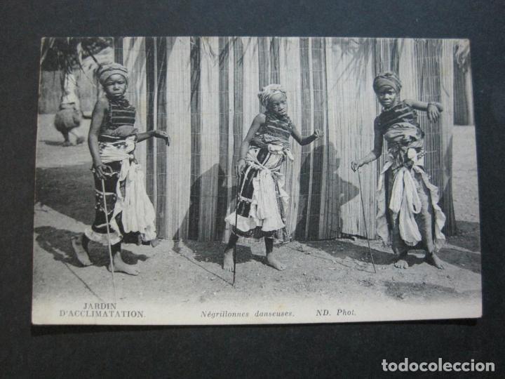 Postales: JARDIN DACCLIMATATION-NIÑOS NEGROS BAILANDO-ND PHOT-POSTAL ANTIGUA-(70.582) - Foto 2 - 205722091