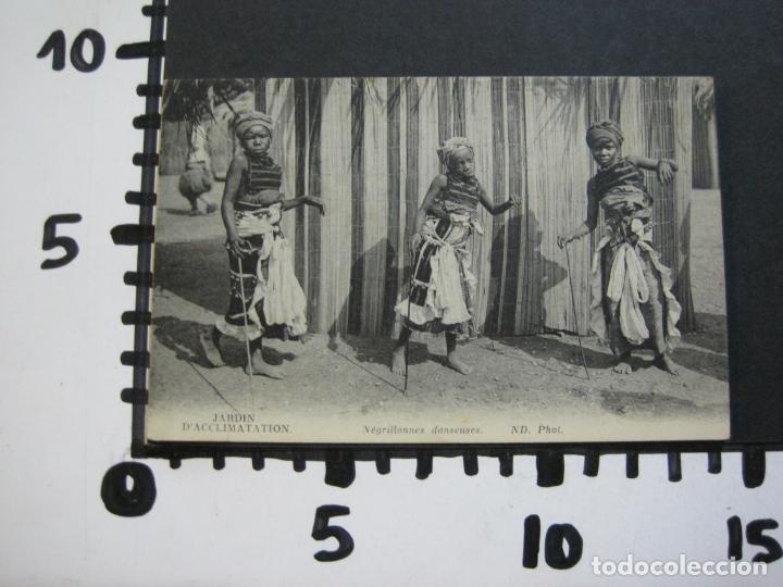 Postales: JARDIN DACCLIMATATION-NIÑOS NEGROS BAILANDO-ND PHOT-POSTAL ANTIGUA-(70.582) - Foto 4 - 205722091