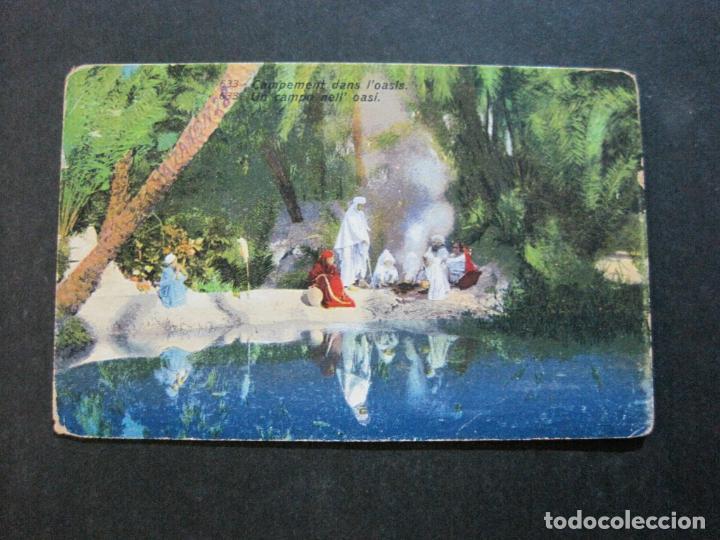 CAMPAMENTO DENTRO DEL OASIS-POSTAL ANTIGUA-(71.138) (Postales - Postales Temáticas - Étnicas)