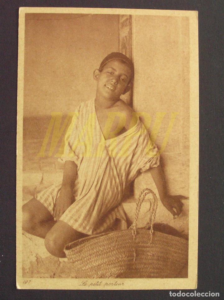 POSTAL EDICIONES LEHNERT & LANDROCK Nº 197 - EL JOVEN PORTEADOR (Postales - Postales Temáticas - Étnicas)