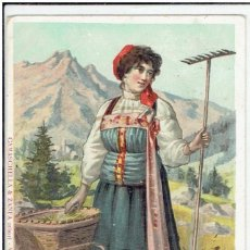 Postales: ITALIA, LA VALSESIA, COSTUME DI FOBELLO, CAMASCHELLA ZANFA EDI , SIN DIVIDIR, CIRCULADA CON SU SELLO. Lote 209782881