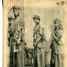 Postales: TÚNEZ-NIÑAS BEDUINAS MENDIGOS- AÑO 1902. Lote 212150752