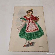 Postales: POSTAL BORDADA TRAJE REGIONALES. Lote 213874193