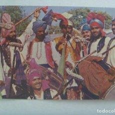 Postales: POSTAL DE LA INDIA : BHANGRA DANCE, MUSICOS . CIRCULADA A LA ANTILLA ( HUELVA ) EN 1977. Lote 218837342
