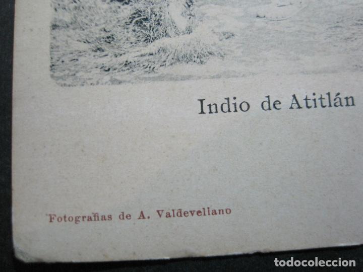 Postales: INDIO DE ATITLAN-FOTO A.VALDEVELLANO-REVERSO SIN DIVIDIR-POSTAL ANTIGUA-(74.353) - Foto 4 - 220297895